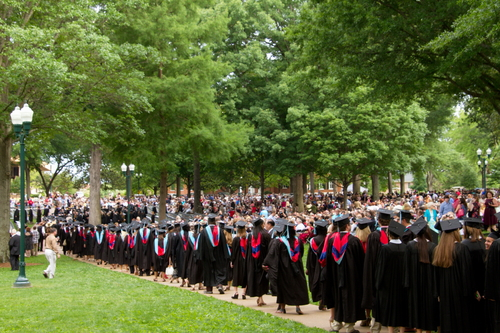 Ole Miss Graduation Set up and Graduation Day