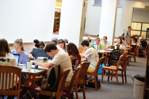 Finals Weeks at Ole Miss. Photo by Kevin Bain/Ole Miss Communications